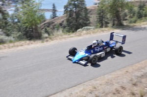 The 1984 Reynard Formula Forrd car has a DC electric motor and produces about 72 horsepower.