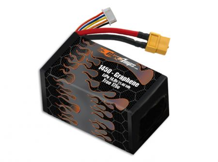 Graphene LiPo 1450 4S 14.8v Battery Pack