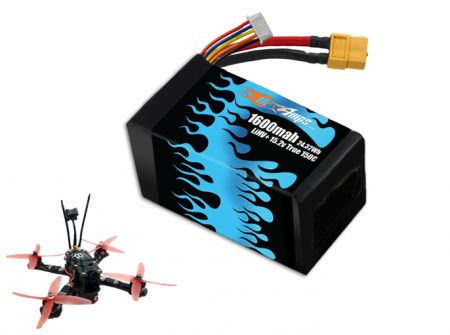 FPV Race LiHV+ 1600 4S 15.2v 150C High Voltage LiPo Battery Pack