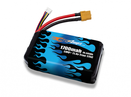 LiHV+ 1700 3S 11.4v 175C High Voltage LiPo Battery Pack