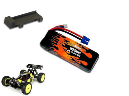 LiPo 1850 2S 7.4v Mini 8ight Battery Pack
