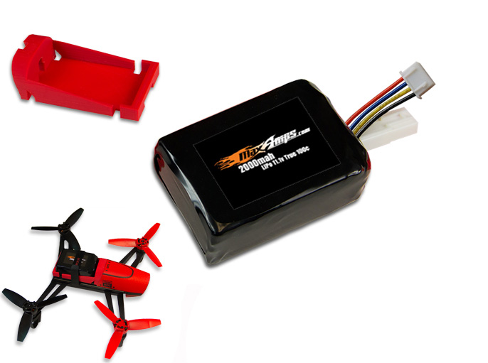 MaxAmps LiPo 2000 3S 111v Bebop Drone Battery Pack
