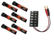 LiPo 225 1S 3.7v Battery 6-Pack Combo for 2.0 Power Whoop Tiny Whoop™