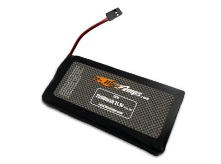 LiPo 2500 3S 11.1v Transmitter Flat Battery Pack
