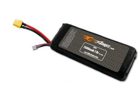 LiPo 2500 2S 7.4v Transmitter Brick Battery Pack for X9D+