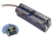 NiMh 2500mah 8 Cell 9.6V Transmitter Brick Pack with JR Plug