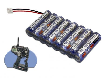 NiMh 2500mah 8 Cell 9.6V Transmitter Flat Pack with JR Plug