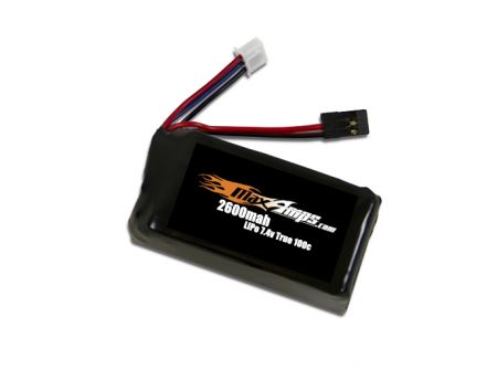 LiPo 2600 2-cell 7.4v Receiver Battery Pack