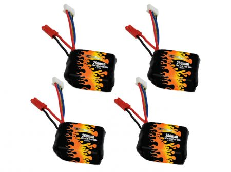 LiPo 260 3S 11.1v Battery 4-Pack for Babyhawk