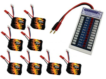 LiPo 260 3S 11.1v Battery 8-Pack Combo for Babyhawk