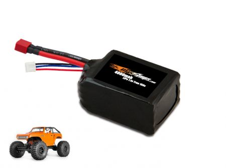 LiPo 4000 2S 7.4v AX10 Deadbolt Battery Pack
