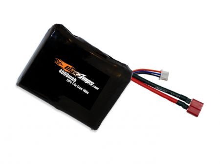 LiPo 4000 2S 7.4v Square Battery Pack