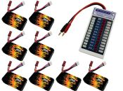 LiPo 400 2S 7.4v Battery 8-Pack Combo for Babyhawk