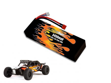 Hard Case LiPo 5450 2S 7.4v EXO Terra Battery Pack