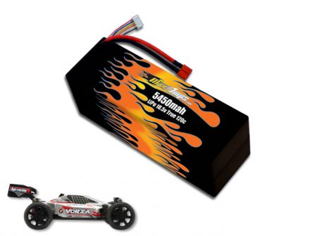 Hard Case LiPo 5450 5S 18.5v Vorza Battery Pack