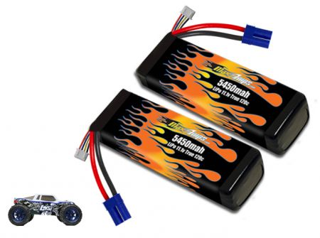 LiPo 5450 3S 11.1v Pair for Losi 3XL-E