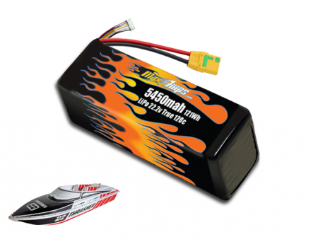 LiPo 5450 6S 22.2v Battery Pack for Thrasher V3
