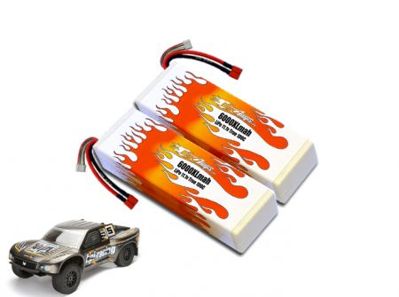 Hard Case LiPo 6000XL 3S 11.1v Super 5SC Flux Pair