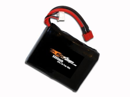 LiPo 6000 2-cell 7.4v Square Battery Pack
