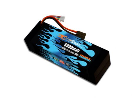 Hard Case Race Edition LiPo 6500 3S 11.1v Dual Core Battery Pack