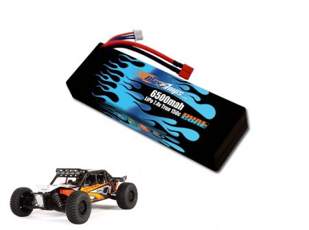 Hard Case Race Edition LiPo 6500 2S 7.4v EXO Terra Battery Pack