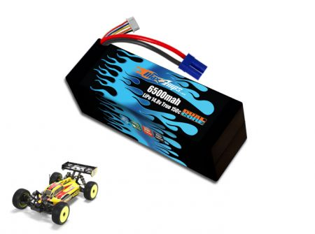 Hard Case Race Edition LiPo 6500 4S 14.8v Dual Core Battery Pack for 8ight-E 3.0