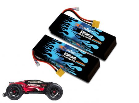 Hard Case Race Edition LiPo 6500 2S 7.4v Fazon BLX Pair
