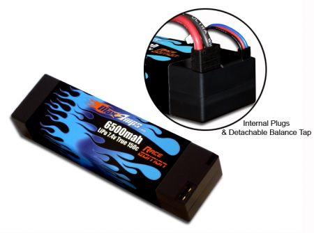 Hard Case Race Edition LiPo 6500 2-cell 7.4v with Internal Plug