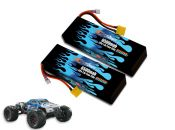 Hard Case Race Edition LiPo 6500 2S 7.4v Nero BLX Pair