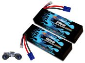 Hard Case Race Edition LiPo 6500 2S 7.4v Pair for Losi 3XL-E