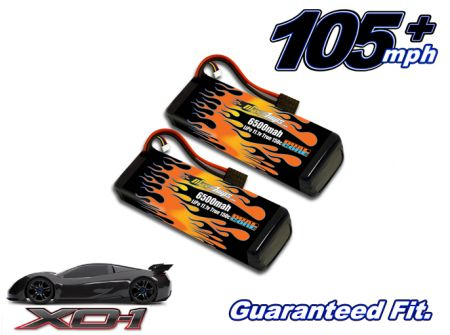 LiPo 6500 3-cell 11.1v XO-1 Pair