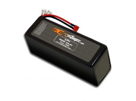LiPo 6500 12S 44.4v Dual Core Battery Pack
