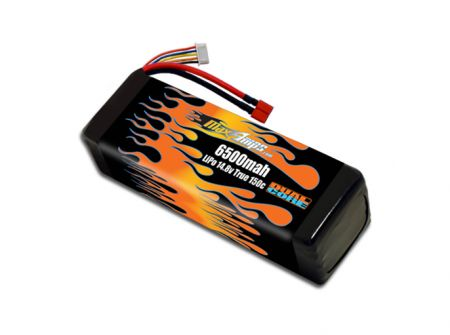 LiPo 6500 4S 14.8v Dual Core Battery Pack