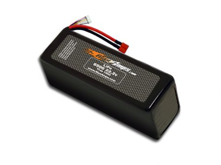 LiPo 6500 6S 22.2v Dual Core Battery Pack