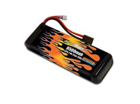 RC Battery LiPo 6500 2-cell RC 7.4v Battery