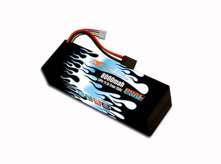 Hard Case Race Edition LiPo 8000 3S 11.1v Dual Core Battery Pack