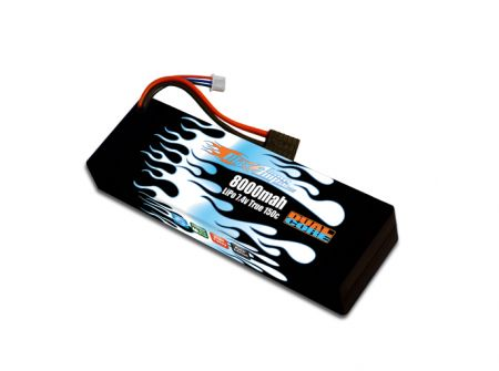 Hard Case Race Edition LiPo 8000 2-cell 7.4v Dual Core Battery Pack