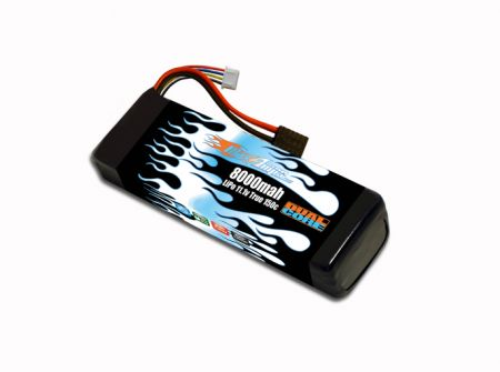 LiPo 8000 3S 11.1v Dual Core Battery Pack