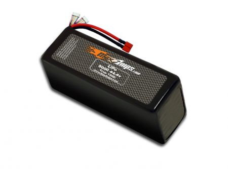 LiPo 8000 12S 44.4v Dual Core Battery Pack