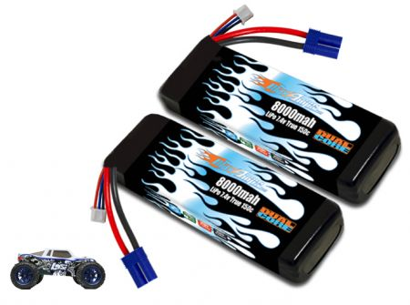 LiPo 8000 2S 7.4v Pair for Losi 3XL-E