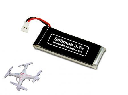 800mah 1S 3.7v Syma X5C Lipo Battery Pack