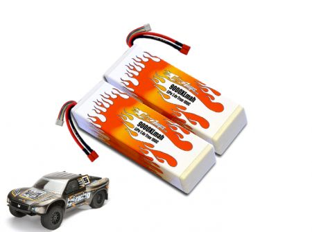 Hard Case LiPo 9000XL 2S 7.4v Super 5SC Flux Pair