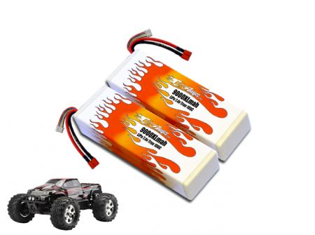 Hard Case LiPo 9000XL 2S 7.4v Savage Flux Pair
