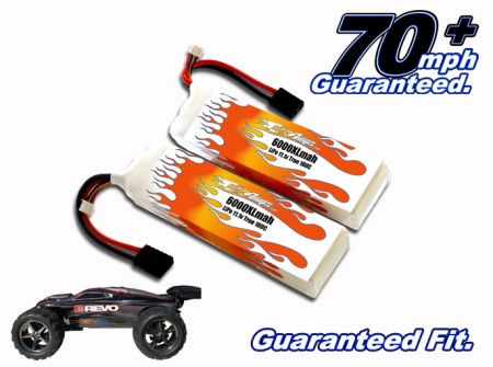 LiPo 6000XL 3-cell 11.1v E-Revo Brushless Pair