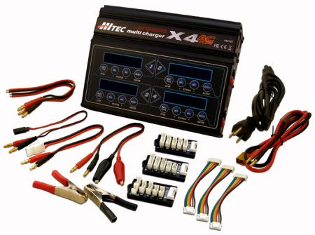 Lipo Battery Charger Hitec X4 AC Plus 4-Port AC/DC Multi charger