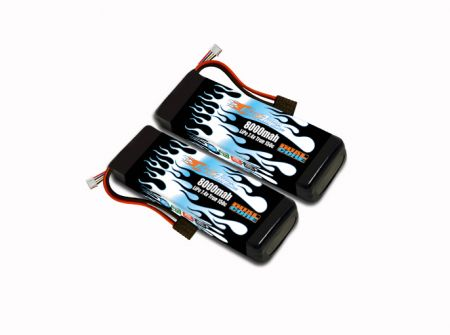 MaxAmps LiPo 8000 2S 7.4v Dual Core Pair for Spartan®