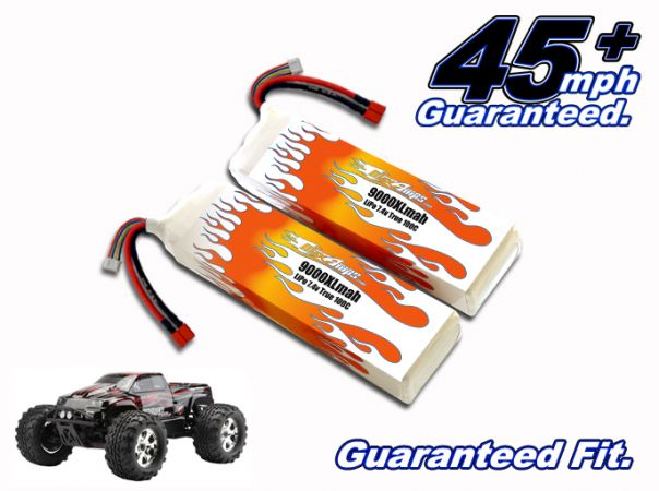 LiPo 9000XL 2-cell 7.4v Savage Flux Pair