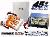 Dual Hard Case LiPo 9000XL 7.4V Savage Flux ARTR Kit
