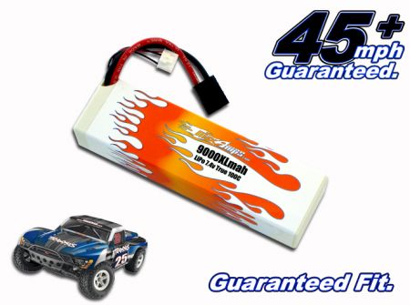 Hard Case LiPo 9000XL 2-cell 7.4v Slash Battery Pack