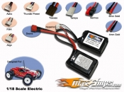 Lipo 2200mah 2S2P 7.4V Saddle Pack